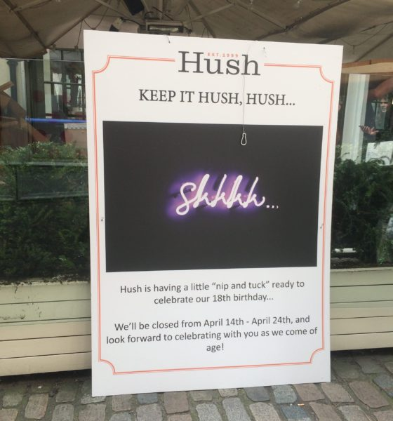 Hush to celebrate 18th birthday